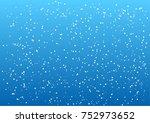 falling snow vector seamless... | Shutterstock .eps vector #752973652