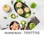 autumn recipes. home stuffed... | Shutterstock . vector #752977702
