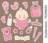 Cute Baby Elements. Vector...