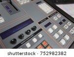 broadcast studio video and... | Shutterstock . vector #752982382