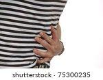 abdominal pain | Shutterstock . vector #75300235