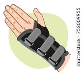 illustration depicts a hand... | Shutterstock .eps vector #753009955