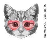 Cat In Love  Portrait Of Cat...