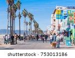 people were walking on street...   Shutterstock . vector #753013186