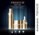 hydrating facial skincare set... | Shutterstock .eps vector #753014155