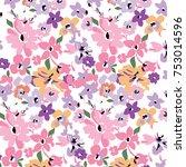 elegant gentle trendy pattern... | Shutterstock .eps vector #753014596
