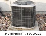 residential air conditioner unit | Shutterstock . vector #753019228