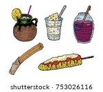hand drawn vector illustration... | Shutterstock .eps vector #753026116