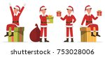 santa claus man character... | Shutterstock .eps vector #753028006