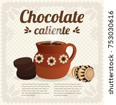 chocolate caliente  hot... | Shutterstock .eps vector #753030616
