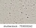 smooth concrete with holes  | Shutterstock . vector #753033262