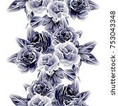 abstract elegance seamless... | Shutterstock .eps vector #753043348