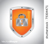 security shield with lock symbol   Shutterstock .eps vector #75304471