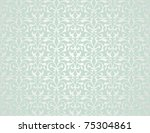 Stock vector pattern from decorative elements in a grey green tonality 75304861