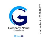 logo letter g company name   Shutterstock .eps vector #753048778