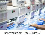 computerized embroidery machines | Shutterstock . vector #753048982