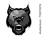dog head mascot logo   Shutterstock .eps vector #753072076