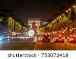 champ elysees traffic  paris ... | Shutterstock . vector #753072418
