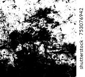 vector black and white grunge... | Shutterstock .eps vector #753076942