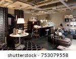 lugano  switzerland  nov 4 ... | Shutterstock . vector #753079558