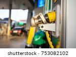 fuel pistols close up at the... | Shutterstock . vector #753082102