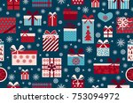 vector seamless pattern with... | Shutterstock .eps vector #753094972