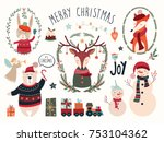 christmas elements collection...   Shutterstock .eps vector #753104362