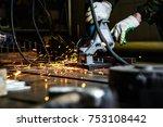 stationary electric circular... | Shutterstock . vector #753108442