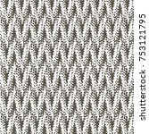 close up of knit pattern... | Shutterstock .eps vector #753121795