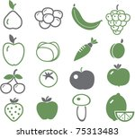 fruits   vegetables icons  ... | Shutterstock .eps vector #75313483