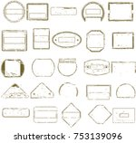collection of grungy empty... | Shutterstock .eps vector #753139096