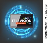 world television day background | Shutterstock .eps vector #753139612