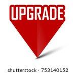 red banner upgrade | Shutterstock .eps vector #753140152