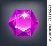 jewerly cartoon stone  gem for...   Shutterstock .eps vector #753142225