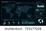 command center  smart cities ... | Shutterstock .eps vector #753177028