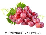 Fresh Grapes Isolated On White...