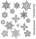 snowflake notes  music ...   Shutterstock .eps vector #753200752