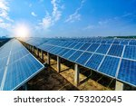 solar energy panels and wind...   Shutterstock . vector #753202045