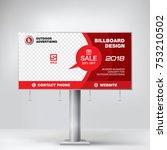 billboard banner  modern design ... | Shutterstock .eps vector #753210502