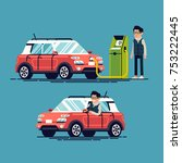cool flat vector illustration... | Shutterstock .eps vector #753222445