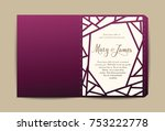 envelope for wedding invitation ... | Shutterstock .eps vector #753222778