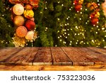 christmas tree background with... | Shutterstock . vector #753223036