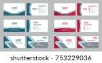 set of modern business name... | Shutterstock .eps vector #753229036