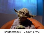 Small photo of BERLIN, GERMANY - OCT 1, 2017: Master Yoda, affilation Jedi OrderStar Wars area, Madame Tussauds Berlin wax museum.