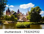 beautiful medieval castle on... | Shutterstock . vector #753242932