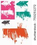 grunge design elements | Shutterstock .eps vector #753251272