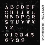 old typewriter font   white... | Shutterstock .eps vector #753252205