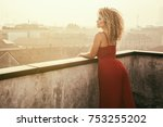 woman portrait with beautiful... | Shutterstock . vector #753255202