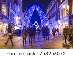 london  november  2017  south... | Shutterstock . vector #753256072