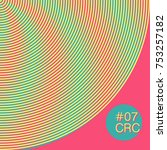 colourful circle moire pattern. ... | Shutterstock .eps vector #753257182